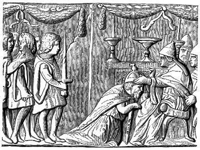 Coronation of the Emperor Sigismund by Pope Eugene Iv, 15th Century--Giclee Print