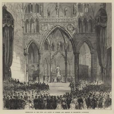 Coronation of the King and Queen of Sweden and Norway in Trondhjem Cathedral--Giclee Print