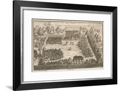 Coronation of the King of Whydah (Ouida), Dahomey (Benin), West Africa--Framed Giclee Print
