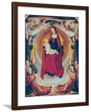 Coronation of the Virgin, Centre Panel from the Bourbon Altarpiece, circa 1498- Master of Moulins-Framed Giclee Print