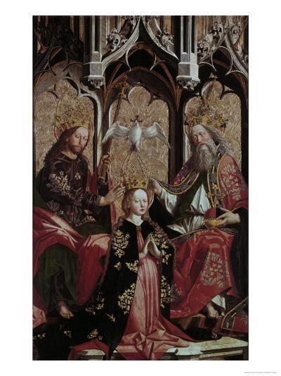 Coronation of the Virgin Mary-Michael Pacher-Giclee Print