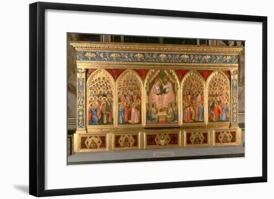 Coronation of the Virgin Polyptych-Giotto di Bondone-Framed Giclee Print