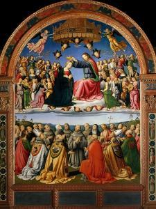 Coronation of the Virgin with Angels and Saints