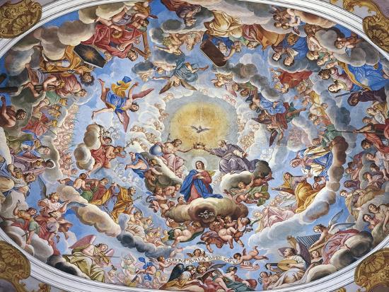 Coronation of the Virgin-Giuseppe Mattia Borgnis-Giclee Print