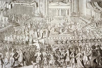 Coronation of William III and Mary II in Westminster Abbey, London, 1689--Giclee Print