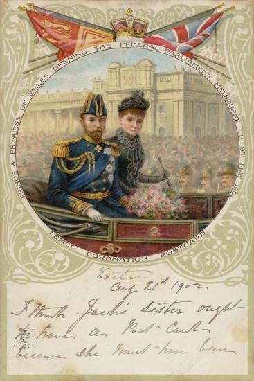 Coronation Postcard, 1902--Giclee Print