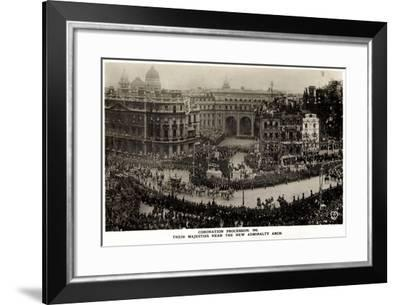 Coronation Procession 1911, New Admiralty Arch--Framed Giclee Print