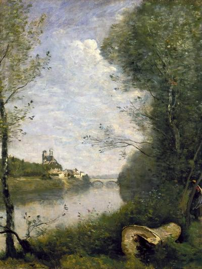 Corot: Cathedral, C1855-60-Jean-Baptiste-Camille Corot-Giclee Print