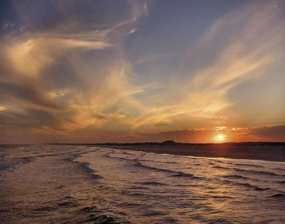 Corpus Christi Sunset-Mike Jones-Art Print