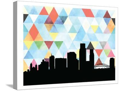 Corpuschristi Triangle-Paperfinch 0-Stretched Canvas Print