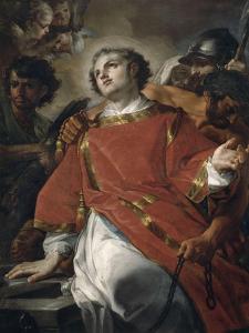 Le martyre de Saint Laurent by Corrado Giaquinto