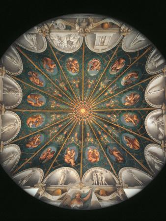 Frescoes in the Camera Della Badessa at the Convent of St Paolo in Parma