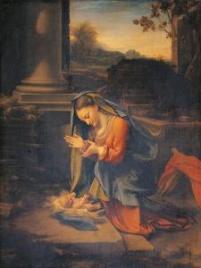 Madonna Adoring the Child by Correggio