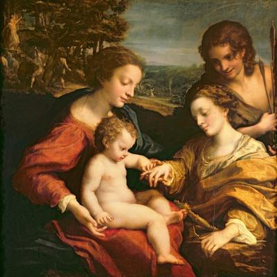 The Mystic Marriage of St. Catherine of Alexandria, c.1526-27
