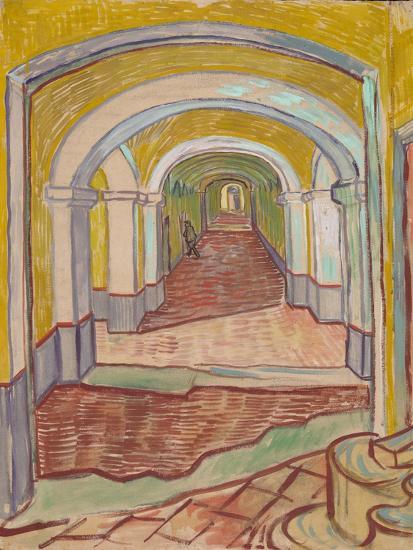 Corridor in the Asylum, 1889-Vincent van Gogh-Giclee Print