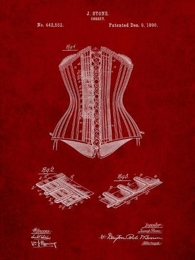 Corset Patent-Cole Borders-Art Print