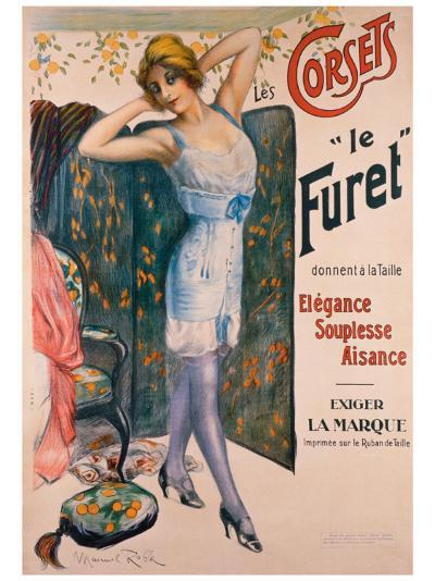 Corsets le Furet-Manuel Robbe-Giclee Print