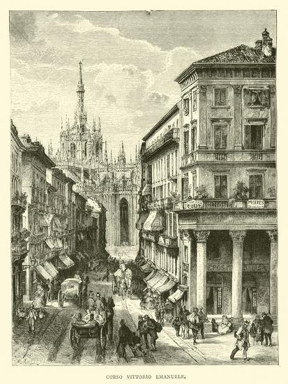 Corso Vittorio Emanuele--Giclee Print