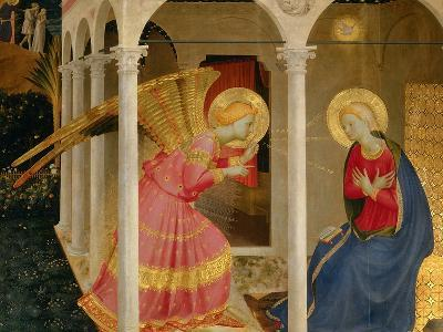 Cortona Altarpiece with the Annunciation-Fra Angelico-Giclee Print