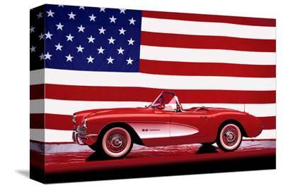 Corvette 1957--Stretched Canvas Print