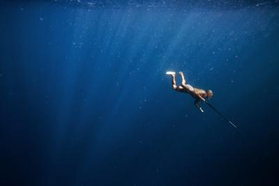 A Bajo Elder of Sampela, Spear Fishing on the Reef by Cory Richards