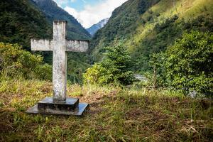 A Cross on a Hilltop Above the Village of Dashutu by Cory Richards
