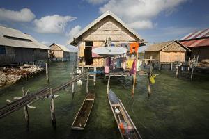 A Satellite Dish Antenna in Sampela, a Bajo Fishing Village by Cory Richards
