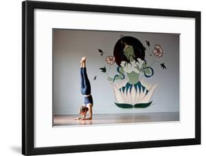 A Woman Doing a Forearm Balance Or Pincha Maruyasana by Cory Richards