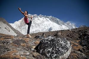 A Woman Doing the Lord of the Dance Pose, Or Natarajasana by Cory Richards