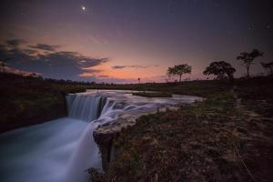 An Unnamed Waterfall at Dusk by Cory Richards