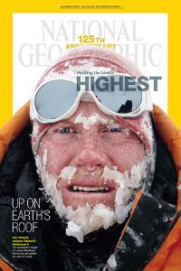 Cover of the December, 2013 National Geographic Magazine by Cory Richards