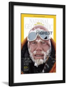 Cover of the January, 2013 National Geographic Magazine by Cory Richards