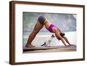 Downward Facing Dog Pose Or Adho Mukha Shvanasana Meets Upward Facing Cat by Cory Richards