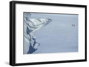 Mountaineers Climb the Cornice of a Polar Glacier by Cory Richards