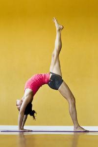 One Legged Backbend Or Eka Pada Urdhva Dhanurasana by Cory Richards