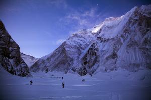 Sherpas Haul Gear in the Western Cwm of Mount Everest by Cory Richards