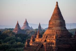 The Terraces of Several Buddhist Temples in Bagan by Cory Richards