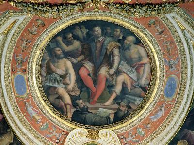 Cosimo I and His Artists, from the Sala Di Cosimo I-Giorgio Vasari-Giclee Print