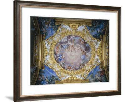 Cosimo I De Medici Presented to Apollo by Gloria and Virtues--Framed Giclee Print