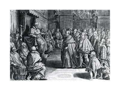 Cosimo Medici Received by Pius V, 1566--Giclee Print