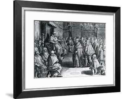 Cosimo Medici Received by Pius V, 1566--Framed Giclee Print