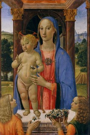 Madonna and Child with Angels, c.1480-2