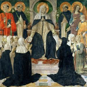 St. Catherine of Siena as the Spiritual Mother of the 2nd and 3rd Orders of St. Dominic by Cosimo Rosselli