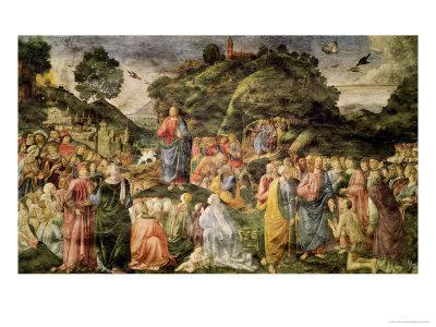 The Sermon on the Mount, from the Sistine Chapel, circa 1481-83