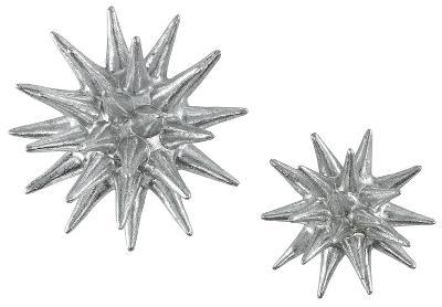 Cosmic Burst Wall Decor Pair Silver Home Accessories By Art Com
