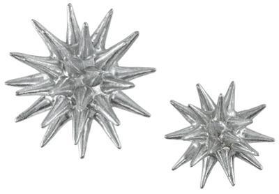 Cosmic Burst Wall Decor Pair - Silver *