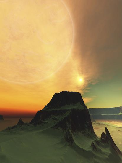 Cosmic Landscape On Another World-Stocktrek Images-Photographic Print
