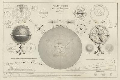 Cosmography, a Collection of Diagrams on Various Planetary Systems--Giclee Print