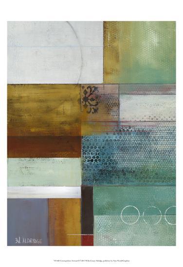 Cosmopolitan Abstract I-W^ Green-Aldridge-Art Print