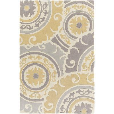 Cosmopolitan Designs Area Rug - Gold/Light Gray 5' x 8'--Home Accessories